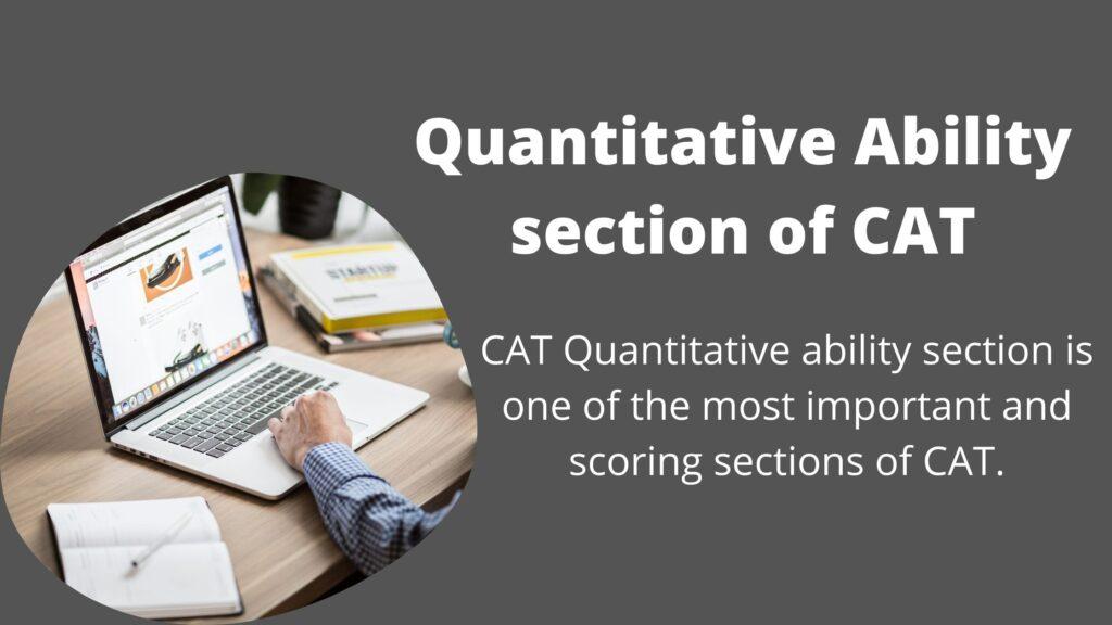 Quantitative Ability section of CAT